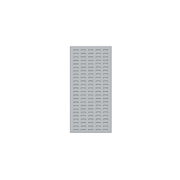 System-Schlitzplatte BxHxT 450x1000x18 mm, Aus 1,25 mm Stahlblech, kunststoffbeschichtet in lichtgrau