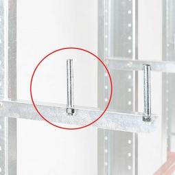 Abrollsicherung für Kragarmregal, 100 mm lang, inklusive Befestigungsmaterial