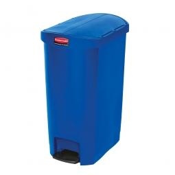 Tretabfalleimer SlimJim, 50 Liter, blau, LxBxH 528x344x721 mm, Polyethylen, Pedal an der Schmalseite