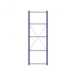 Fachbodenregal Flex mit 5 Fachböden, Stecksystem, kunststoffbeschichtet, BxTxH 870 x 515 x 2500 mm, Tragkraft 125 kg/Boden