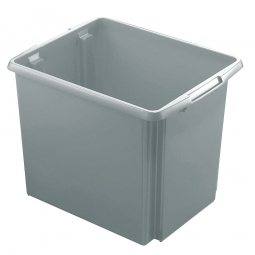 Leichter Drehstapelbehälter, LxBxH 455 x 360 x 360 mm, 45 Liter, grau