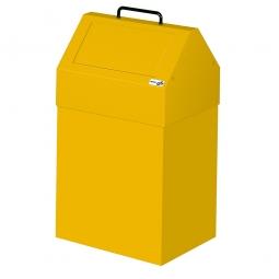 Wertstoffsammler, stationär, Inhalt 45 Liter, BxTxH 330x310x640 mm, gelb