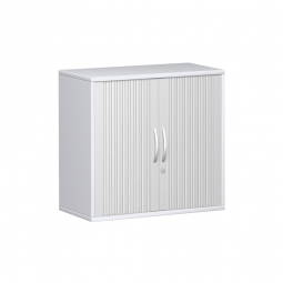 Querrollladenschrank PRO 2 Ordnerhöhen, weiß, BxHxT 800x768x425 mm