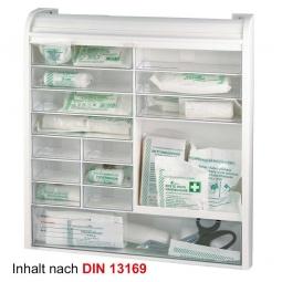 Verbandschrank aus Kunststoff mit Jalousie, weiß, BxTxH 420x100x480 mm