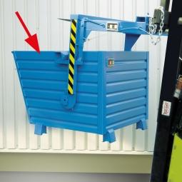 Stapelkipper LxBxH 1200x800x900 mm, Volumen 0,70 m³, Tragkraft 1500 kg,  Gewicht 90 kg, lackiert