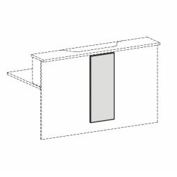 Empfangstheken-Blende, lichtgrau, BxH 320x812 mm