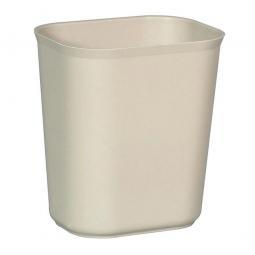 Feuerfester Abfallkorb aus Fiberglas, Inhalt 13 Liter, beige