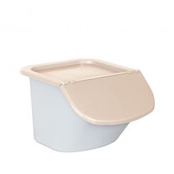 Zutatenbehälter / Zutatenspender, 15 Liter, LxBxH 440 x 400 x 280 mm, weiß/beige