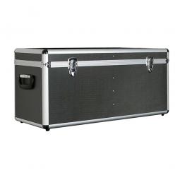 Alurahmen-Transportbox, Inhalt 65 Liter, LxBxH 680 x 310 x 320 mm, abschließbar, anthrazit
