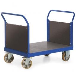 Zweiwandwagen mit Holzwand, LxBxH 1500x800x1050 mm, Tragkraft 2200 kg