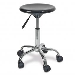 Arbeitsdrehhocker, Sitz aus ABS-Kunststoff, Höhe 490-630 mm, Sitz-Ø 320 mm