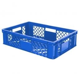 Eurobehälter mit 4 Durchfassgriffen, LxBxH 600 x 400 x 150 mm, 27 Liter, blau
