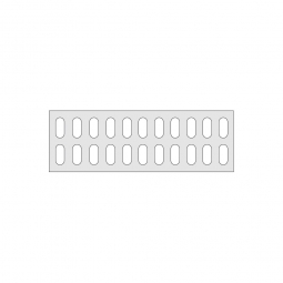 Gitterregalboden aus Kunststoff (Polystyrol), BxT 1150x380 mm, bestehend aus 2 Bodensegmenten