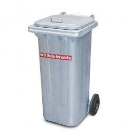 Müllbehälter 120 Liter verzinkt