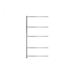 Fachboden-Anbauregal mit 5 Fachböden, Schraubsystem, glanzverzinkt, BxTxH 1003 x 306 x 2000 mm, Tragkraft 250 kg/Boden