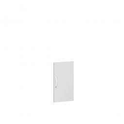 Flügeltür FLEX für 2 Ordnerhöhen, lichtgrau, Breite 400 mm, mit Metallscharnieren und Türdämpfern