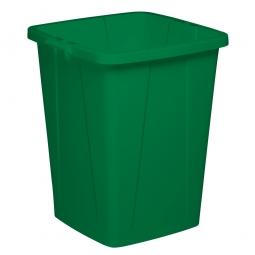 Abfall- und Wertstoffbehälter, eckig, 90 Liter, BxTxH 520x490x610 mm, grün
