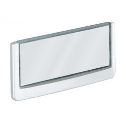 Türschild aus ABS-Kunststoff mit aufklappbarem Sichtfenster, BxH 149 x 52,5 mm, weiß