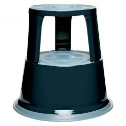 Rollhocker aus Stahlblech, schwarz, Tragkraft 150 kg, ØxH 290/440x430 mm