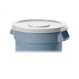Deckel für Mehrzweckbehälter 38 Liter, weiß, Ø 400 mm, Polyethylen-Kunststoff (PE)