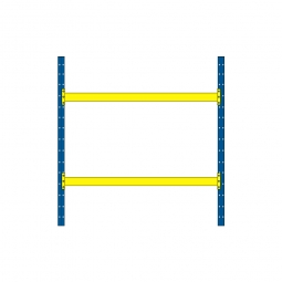 Palettenregal mit 2 Paar Tragbalken für 9 Europaletten, Fachlast 2600 kg/Tragbalkenpaar, BxTxH 2925 x 1100 x 3000 mm