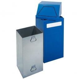 Wertstoffsammler, stationär, Inhalt 65 Liter, BxTxH 405x380x970 mm, blau