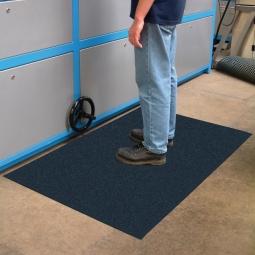 Bodenmatte, mit Strukturoberfläche, schwarz, LxB 600x900 mm, Stärke 9 mm, Vinyl-Schaum-Belag