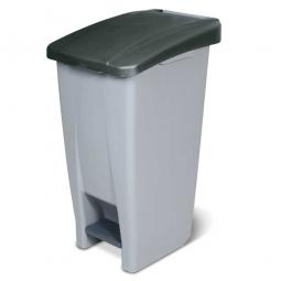 Tret-Abfallbehälter mit Rollen, PP, BxTxH 380 x 490 x 700 mm, 60 Liter, grau/schwarz