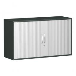 Anstell-Querrollladenschrank PRO 2 Ordnerhöhen, graphit, BxHxT 1600x720x425 mm