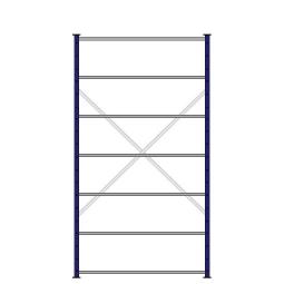 Ordner-Steck-Grundregal, doppelseitige Ausführung, HxBxT 2300x1270x630(2x315) mm, Oberfläche kunststoffbeschichtet