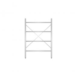 Aluminiumregal mit 4 geschlossenen Regalböden, Stecksystem, BxTxH 1200 x 500 x 1800 mm, Nutztiefe 440 mm