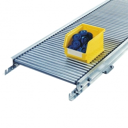 Klein-Rollenbahn, LxB 1000 x 540 mm, Bahnbreite: 500 mm,  Achsabstand: 25 mm, Tragrollen Ø 20x1,0 mm
