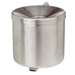 Sicherheits-Wandascher, Inhalt 3,1 Liter, ØxH 160x160 mm, Edelstahl