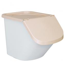 Zutatenbehälter / Zutatenspender, 40 Liter, LxBxH 610 x 430 x 450 mm, weiß/beige