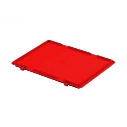 Scharnierdeckel für Euro-Stapelbehälter, LxB 400 x 300 mm, rot