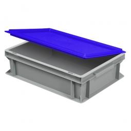 Scharnierdeckel für Euro-Geschirrkasten, LxB 400x300 mm, blau, Gewicht 450 g