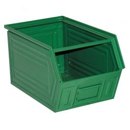 Sichtbox SB2 aus Stahlblech, 41 Liter, LxBxH 520/450 x 300 x 300 mm, grün