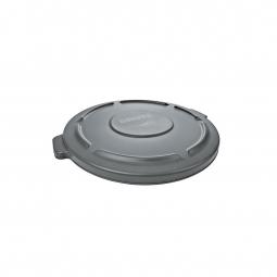 Deckel für Mehrzweckbehälter 38 Liter, grau, Ø 400 mm, Polyethylen-Kunststoff (PE)