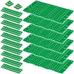 Bodenrost-Set, 18-teilig, grün, 2,3 m²