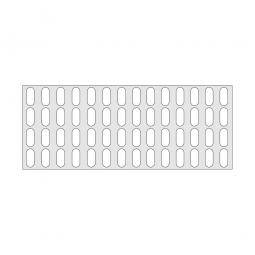 Gitterregalboden aus Kunststoff (Polystyrol), BxT 1450 x 580 mm, bestehend aus 3 Bodensegmenten