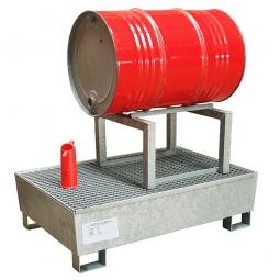 Fassbock feuerverzinkt, zur Lagerung von einem liegenden Fass, BxTxH 600 x 600 x 405 mm