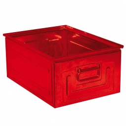 Stapelkasten ST1 aus Stahlblech, 27,5 Liter, LxBxH 500 x 300 x 200 mm, rot