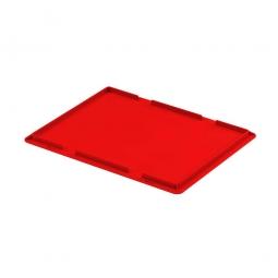 Auflagedeckel für Euro-Stapelbehälter, LxB 400 x 300 mm, Farbe rot