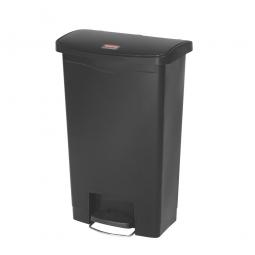 Tretabfalleimer Slim Jim, 50 Liter, schwarz, LxBxH 457 x 292 x 719 mm
