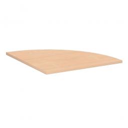 Verkettungsplatte, Viertelkreis 90° Komfort, Dekor Buche, BxT 800x800 mm