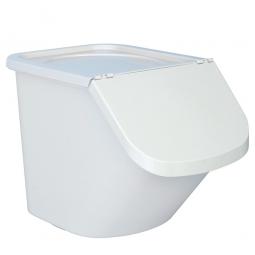 Zutatenbehälter / Zutatenspender, 40 Liter, LxBxH 610 x 430 x 450 mm, weiß/weiß