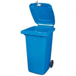 Müllbehälter mit Dreikantschlüssel verschließbar, BxTxH 480x550x930 mm, 120 Liter, blau