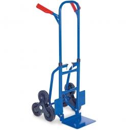 Zusammenschiebbare Stahl-Treppenkarre, BxTxH 540x560x1190 mm, Tragkraft 150 kg