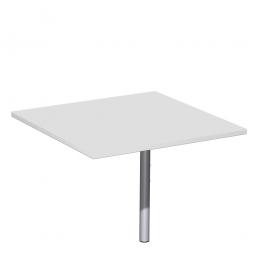 Volleck-Verkettungsplatte 90° PREMIUM, Lichtgrau/Silber, BxT 800x800 mm