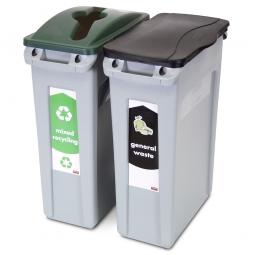 """""""Slim Jim"""" Recycling-Starterpaket, 2x 87 Liter für zwei Abfallarten"""